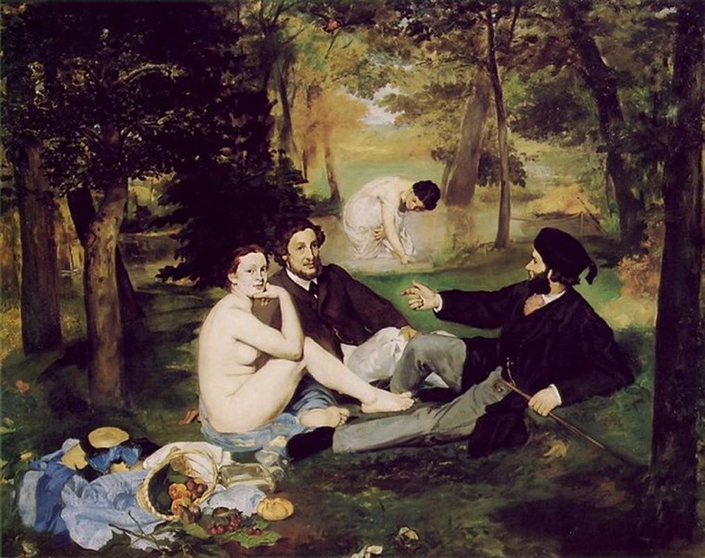 Manet Le Déjeuner sur l'Herbe calici di stelle panem et circenses picnic