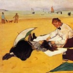 Beach Scene Edgar Degas