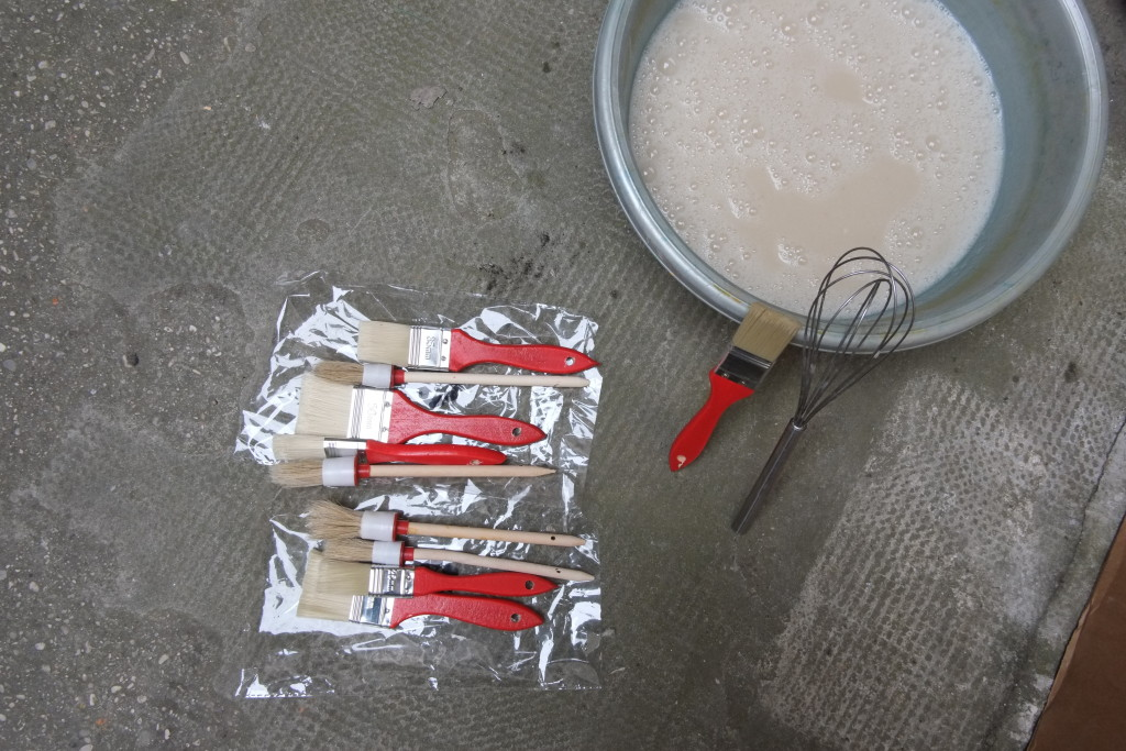 fondi di carciofo installazione cibo farina