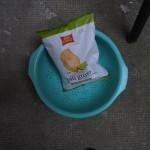 fondi di carciofo installazione cibo artificio